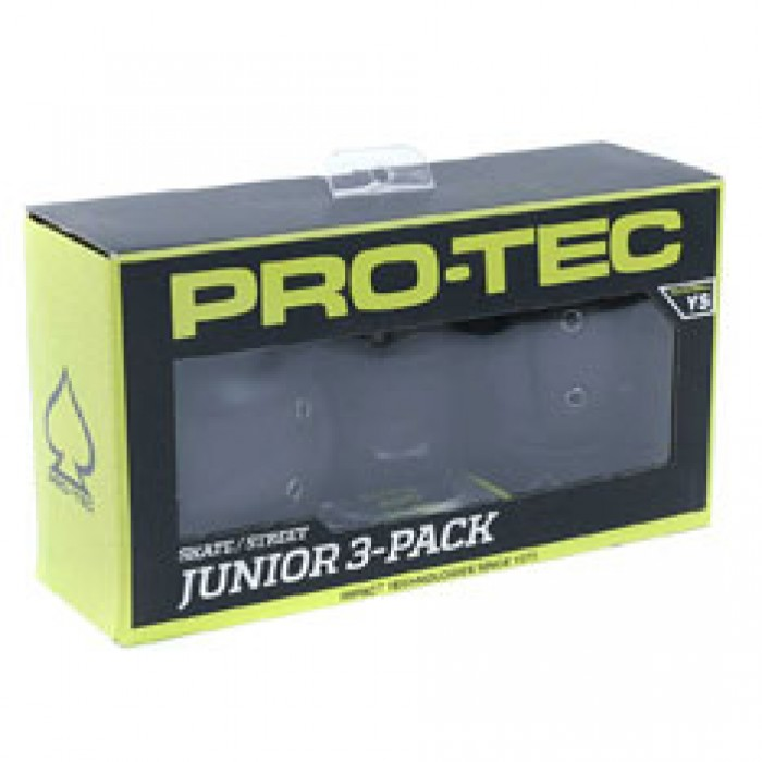 Pro Tec Padset Street Junior Pads Black Small Youth