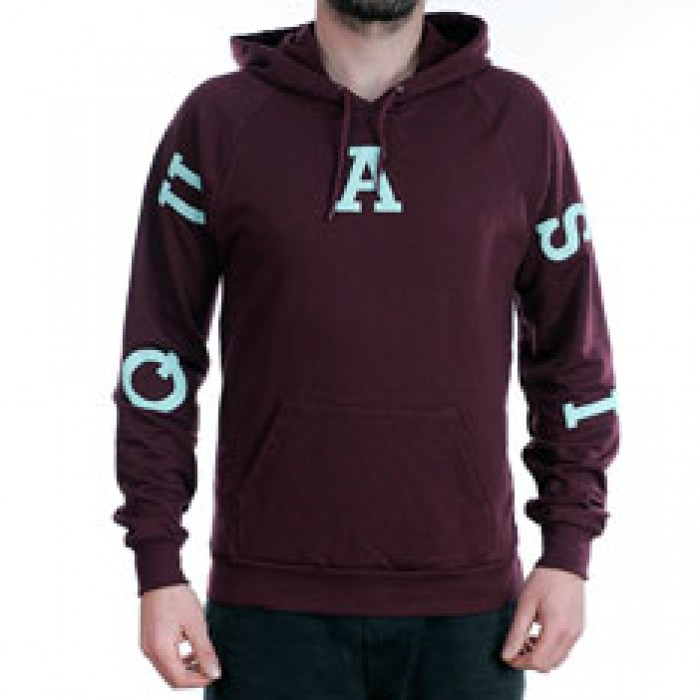 Quasi Skateboards Relay Hooded Sweatshirt Wine Red