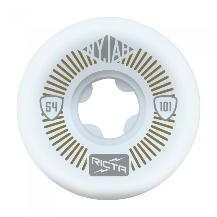 Ricta Nyjah Huston Pro Wide Skateboard Wheels 101a White 54mm