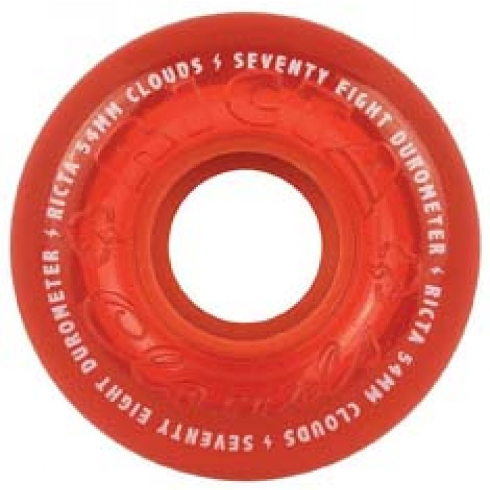 Ricta Crystal Clouds Skateboard Wheels Red 78a 54mm