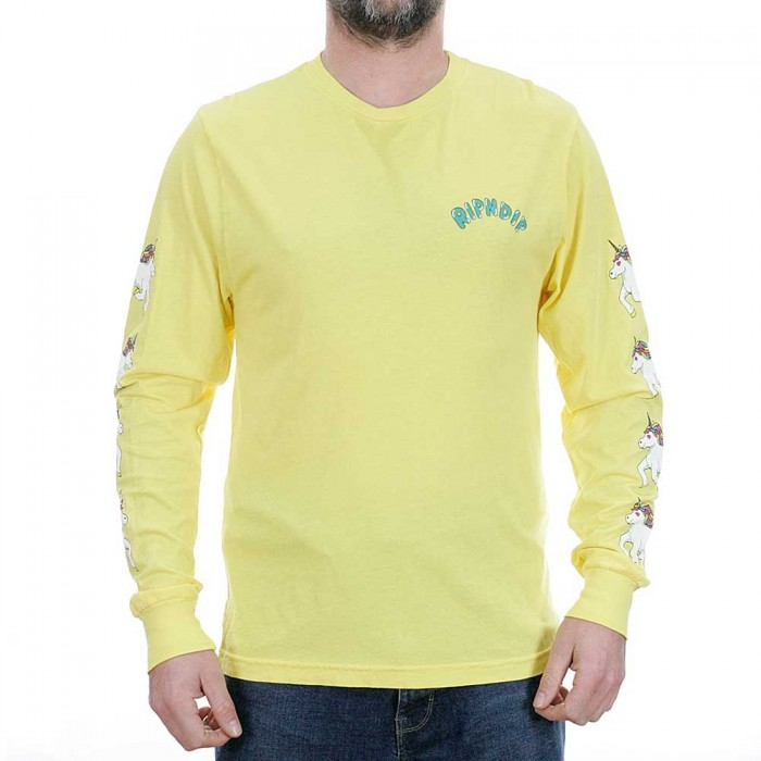 Rip N Dip Nerm Land Long Sleeved T-Shirt Yellow