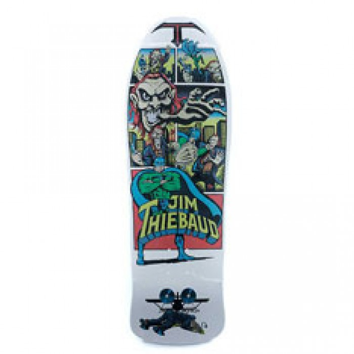 Santa Cruz SMA Skateboards Thiebaud Joker Skateboard Deck White Metallic Art 10""