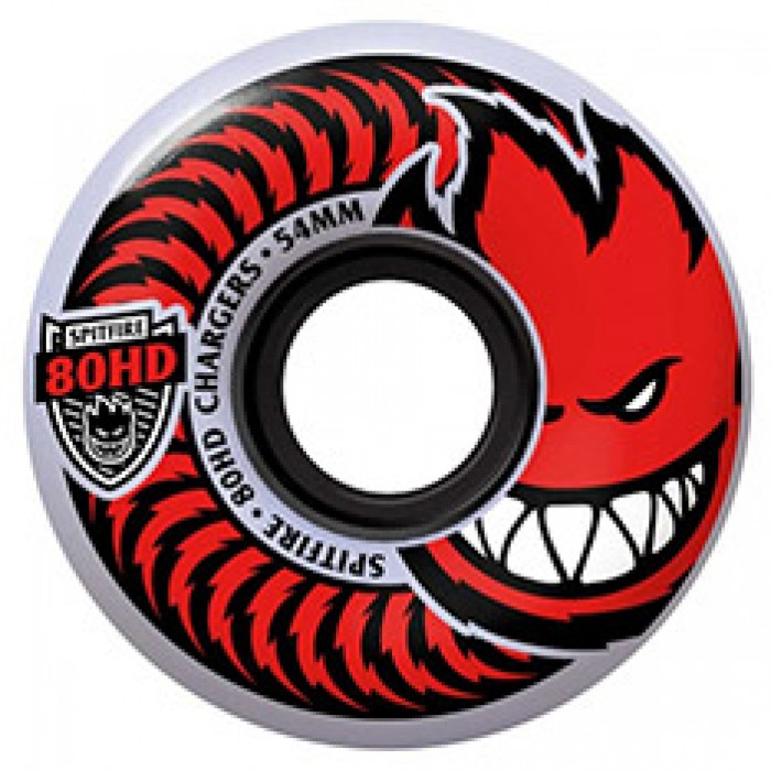 Spitfire Soft Skateboard Wheels Charger Classic Clear 80HD 56mm