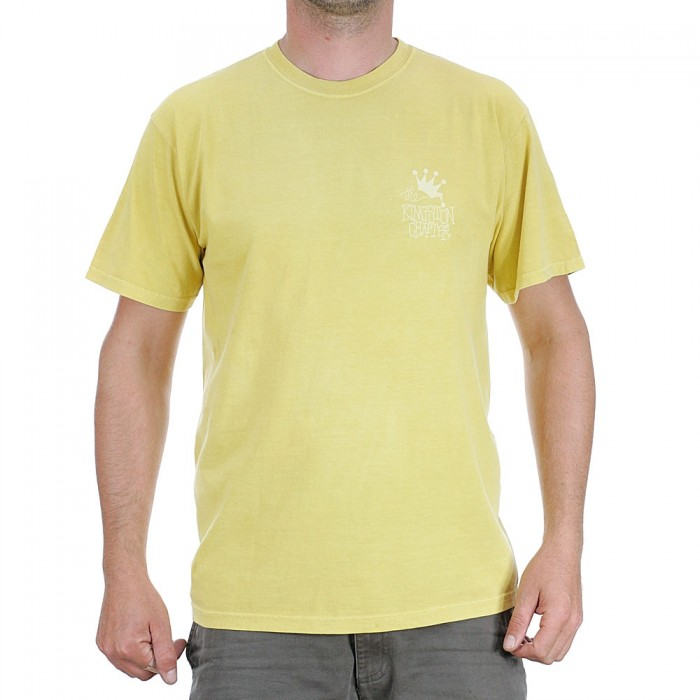 Stussy Kingston Chapter Pigment Dyed T-Shirt Mustard