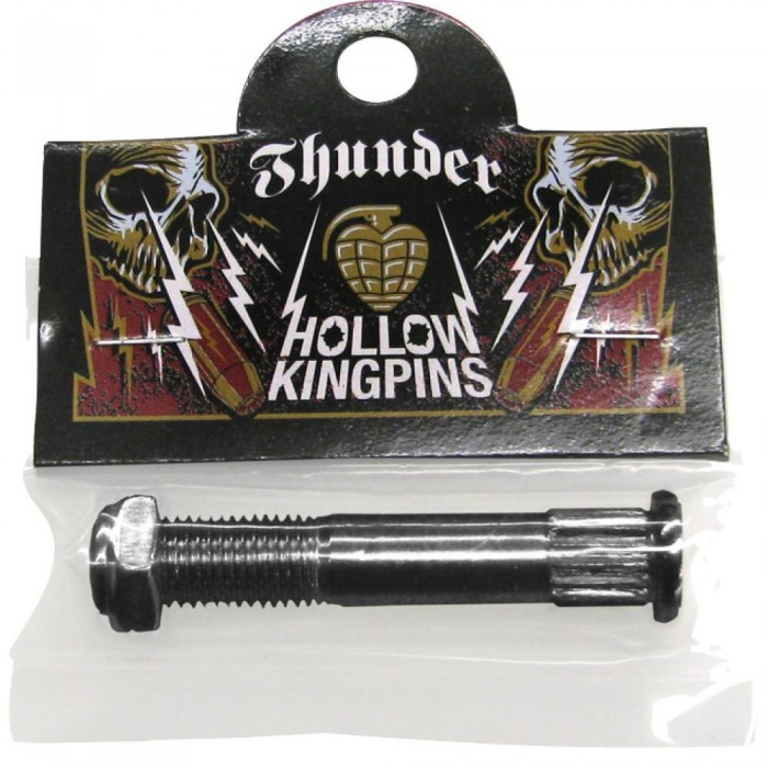Thunder Skateboard Truck Replacement Hollow Kingpin & Nut  Silver