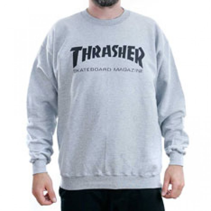f109efaf6dc5 Thrasher Magazine Grey Skate Mag Logo Crewneck Sweatshirt at Black Sheep