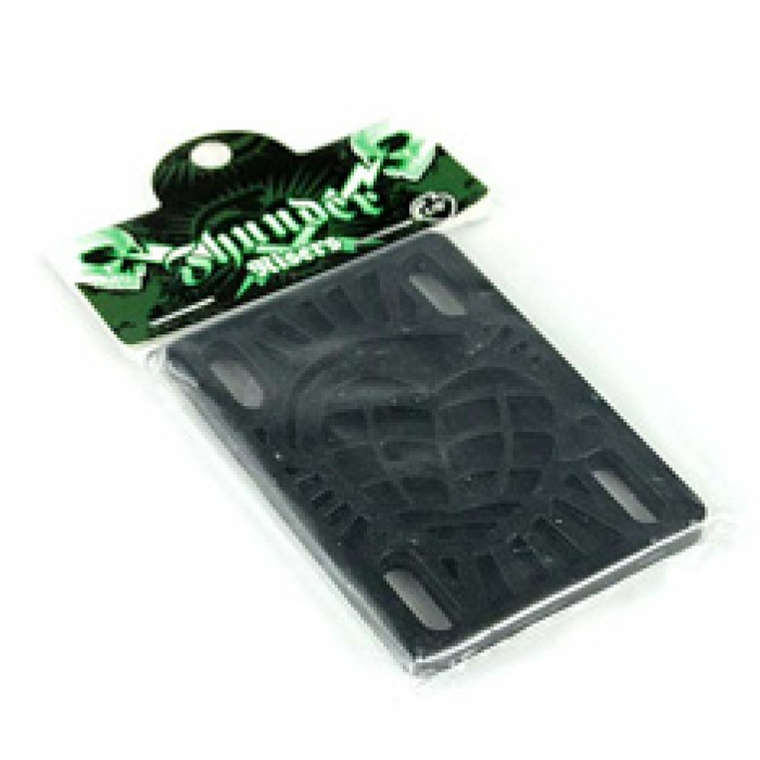 Thunder Skateboard Riser Pads Pack of 2 Black 1/8""