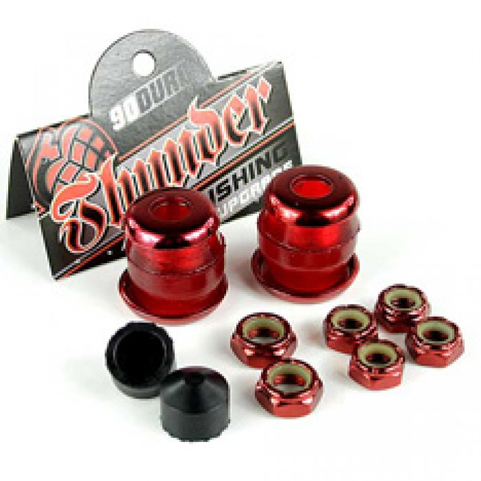 Thunder Rebuild Kit Red 90a Bushings/Washers/Axle And Kingpin Nuts/Pivot Cups