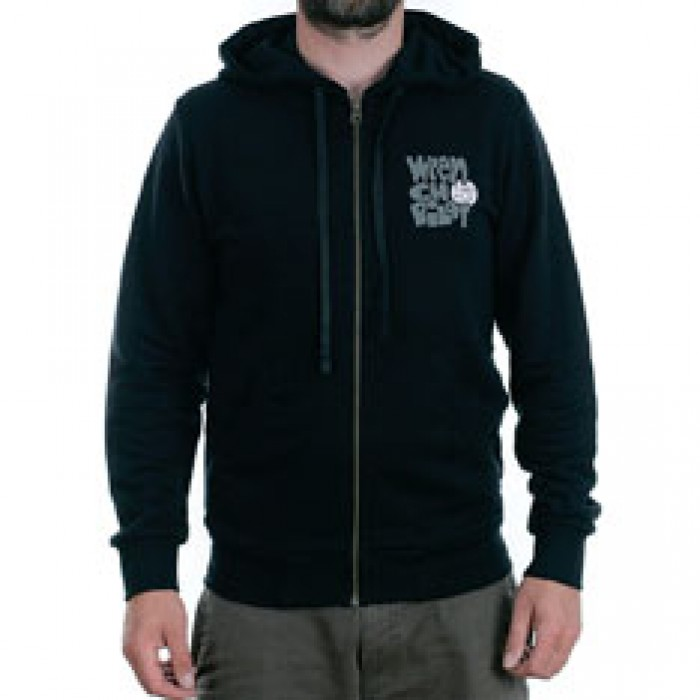 Turbo Kolor x Andy Jenkins No Comply Wrench Pilot Zip Hooded Sweatshirt Black