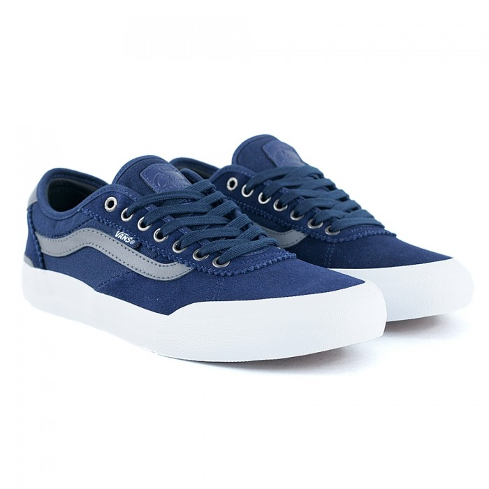 Vans Chima Pro 2 Dress Blues Quiet Shade Skate Shoes