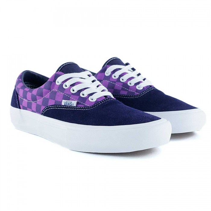 Vans Era Pro Baker Kader Purple Check Skate Shoes