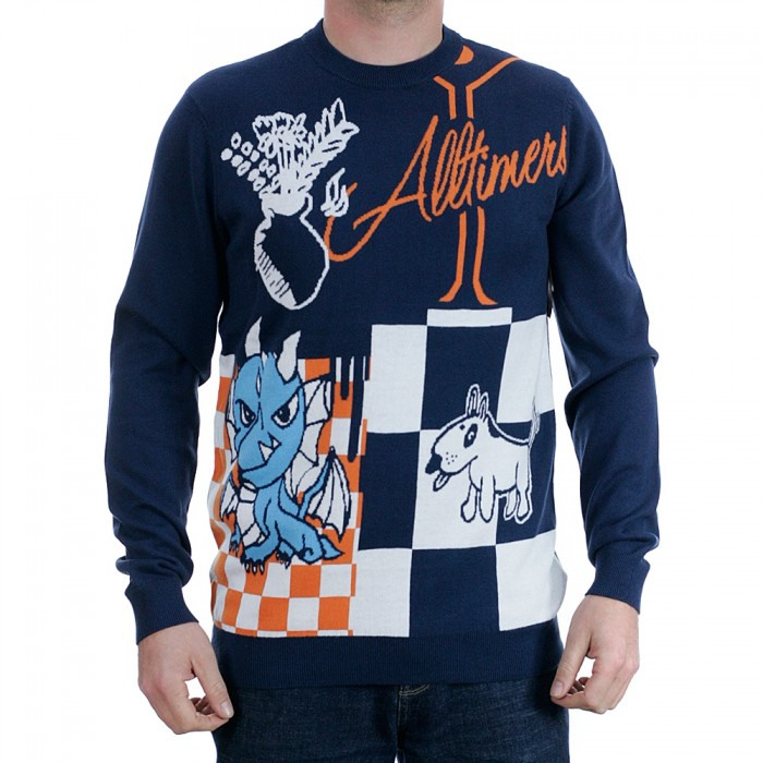 Vans x Alltimers Crewneck Jumper Dress Blue