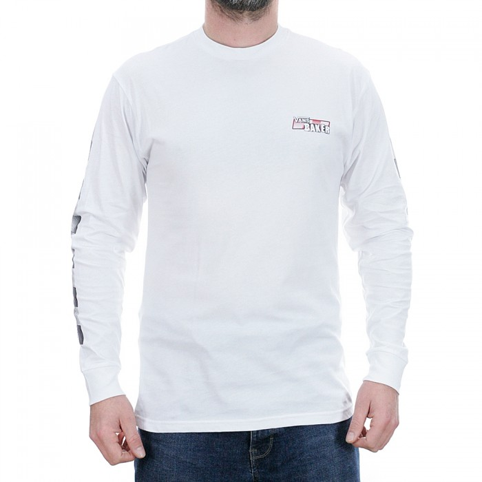 Vans x Baker Speed Check Long Sleeved T-Shirt White