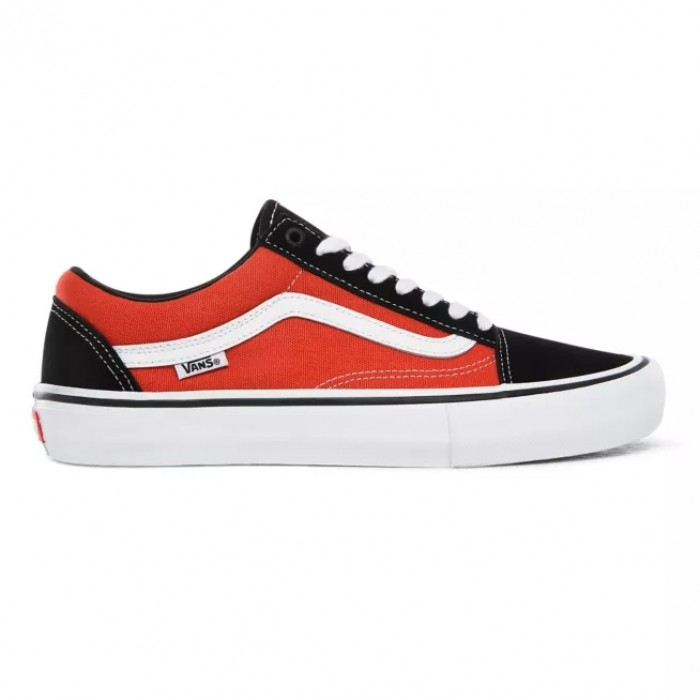 Vans Old Skool Pro Black Orange Skate Shoes