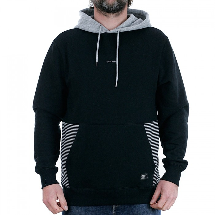 Volcom Forzee Pullover Hooded Sweatshirt Black