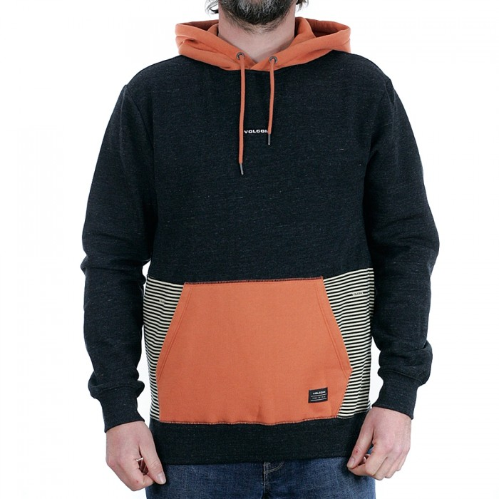 Volcom Forzee Pullover Hooded Sweatshirt Burnt Orange