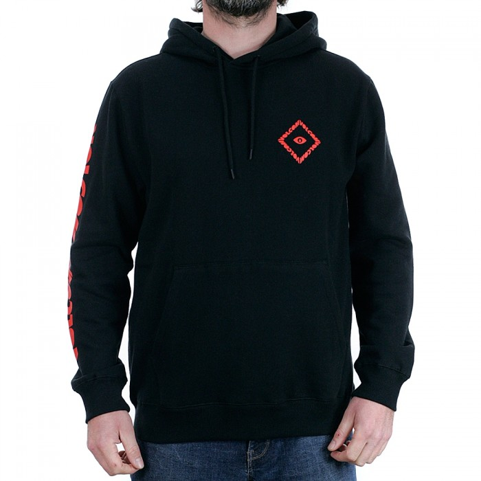 Volcom Shoots Pullover Hooded Sweatshirt Black