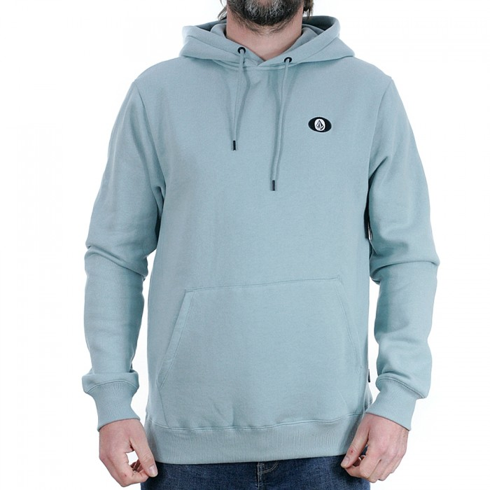 Volcom Single Stone Pullover Hooded Sweasthirt Cool Blue