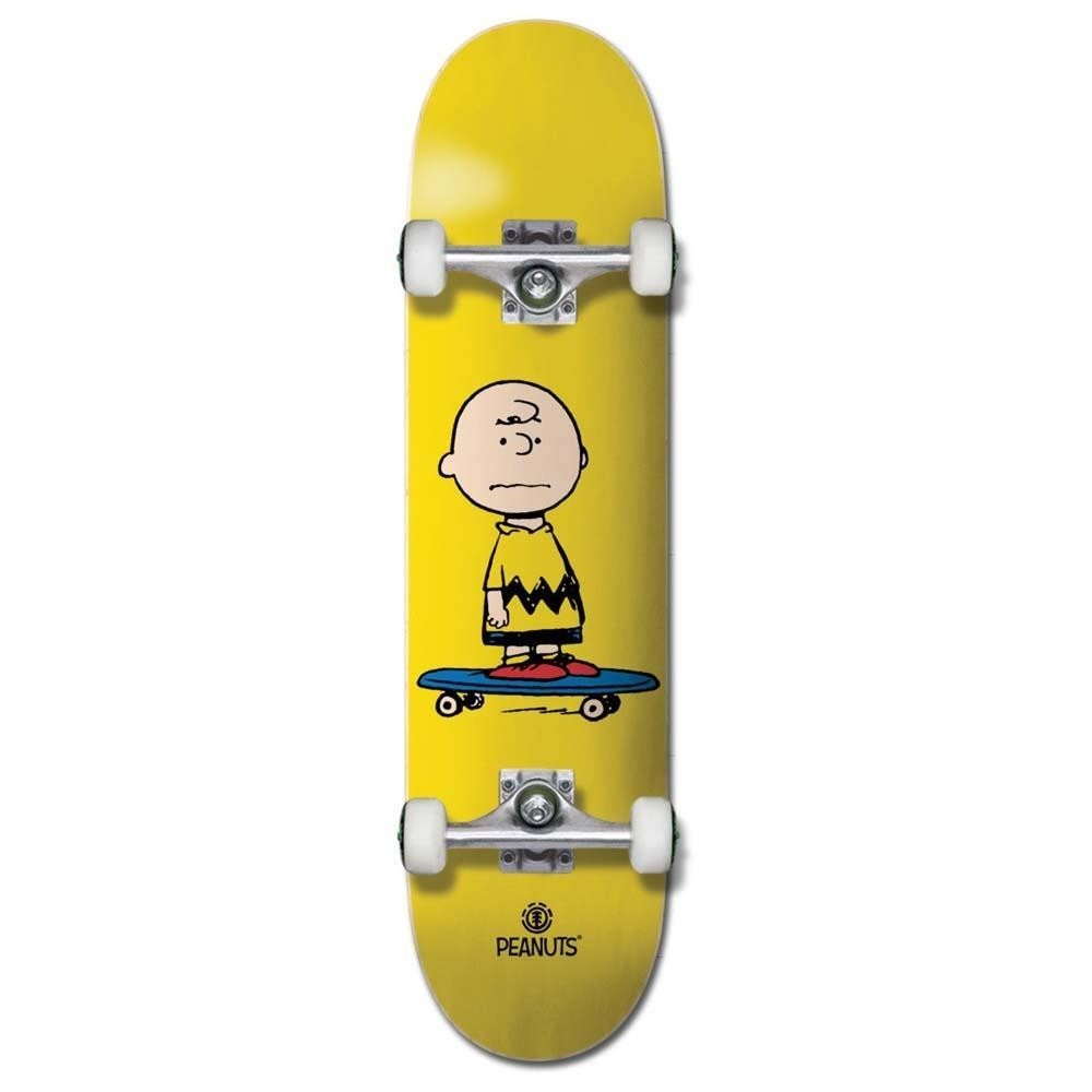 """Element x Peanuts Charlie Factory Complete Skateboard Yellow 7.75"""""""