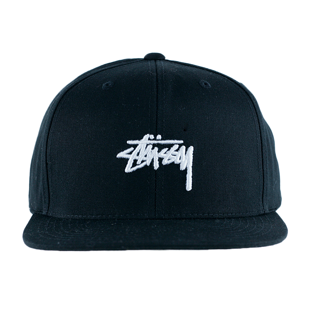 Stussy Stock SP18 Snapback Hat Black at Black Sheep Skateboard Shop dbb58b1bb5e