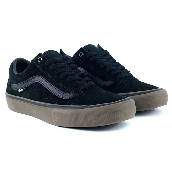 77869887 Vans Old Skool Pro Black Gum Gum Skate Shoes