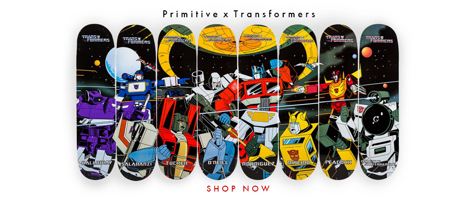 'All new Primitive X Transformers decks now in