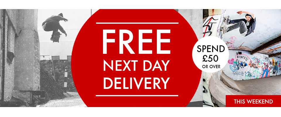 'Free next day delivery when you spend over £50 this weekend