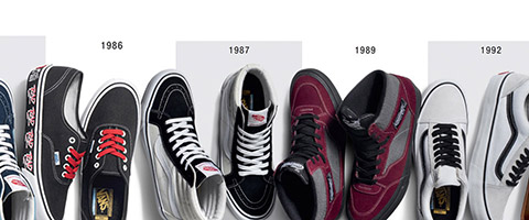 Vans 50th Anniversary exclusive range at Black sheep Skateboard Shop Manchester