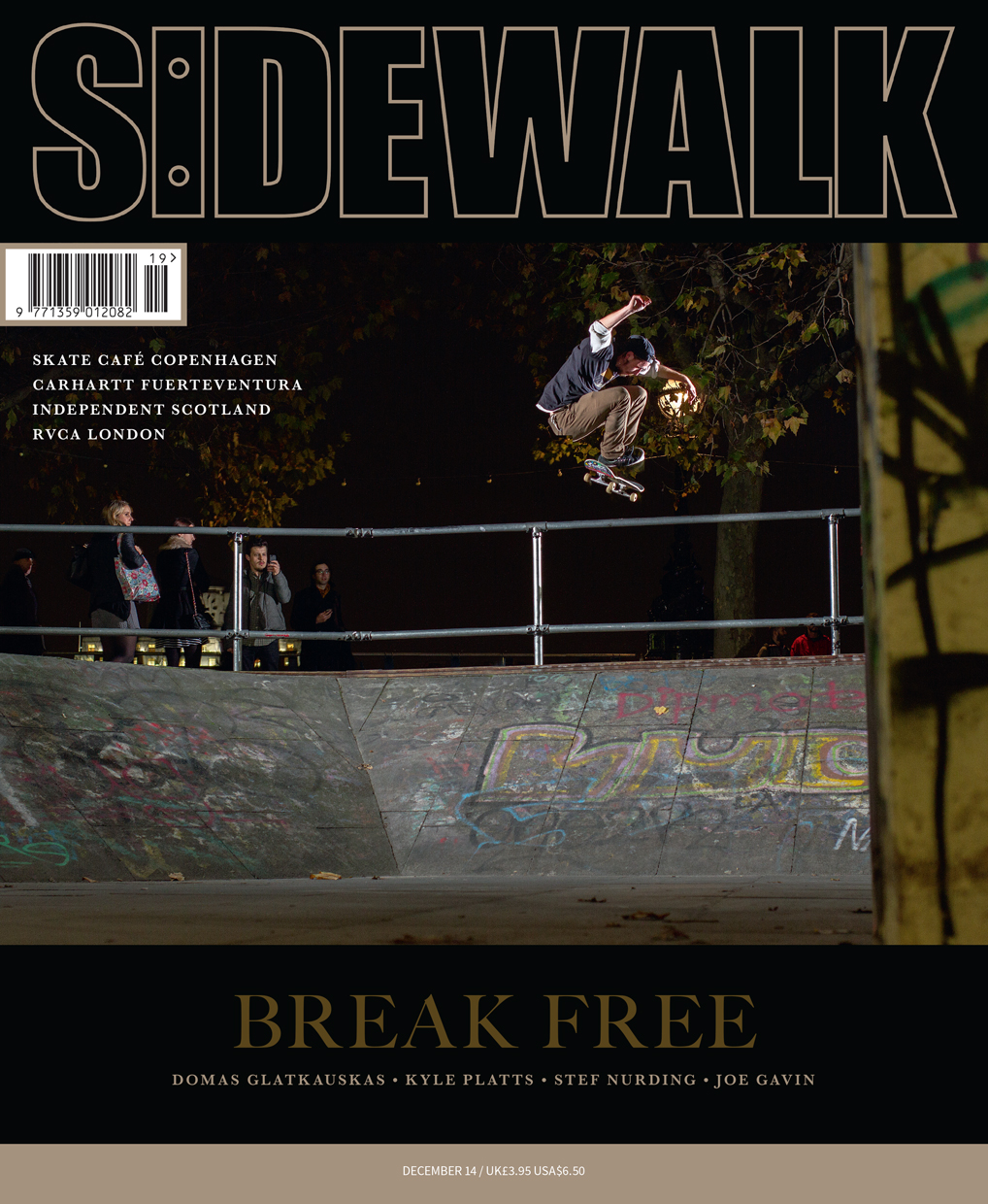 harry lintell sidewalk magazine cover for black sheep team page