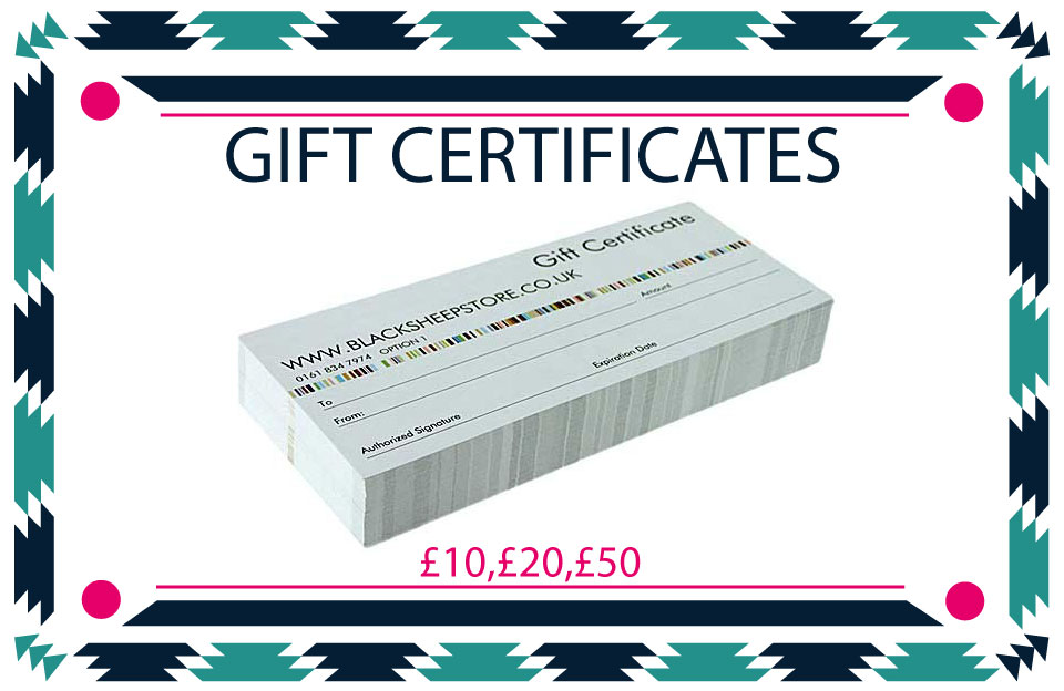 Black Sheep Christmas Gift certificates.